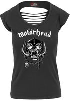 Mr. Tee Ladies Motörhead Logo Cutted Back Tee black