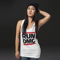 Mr. Tee Ladies Run DMC Logo Tank white