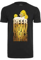 Mr. Tee Simpsons Beer Now Tee black