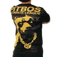 PITBOS5.515 Ultimate League Tee Black Yellow