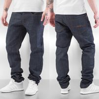 Rocawear / Straight Fit Jeans Leather Patch in grey