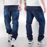 Rocawear / Straight Fit Jeans Leather Patch Relaxed in blue