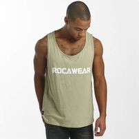 Rocawear / Tank Tops Color Block in khaki