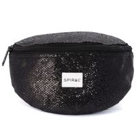 Spiral Black Glamour Bum Bag