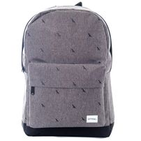 Spiral Crosshatch Bird Backpack Bag Charcoal