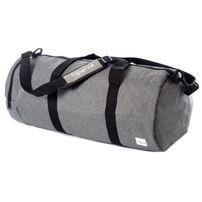 Spiral Crosshatch Grey Duffel Bags