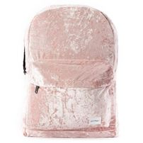 Spiral Crushed Velvet Blush Backpack Bag
