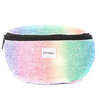 Spiral Rainbow Sequins Bum Bag