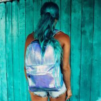 Ruksak Spiral Textured Sapphire Holographic Backpack Bag