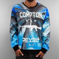 Thug Life Compton Sweatshirt Blue