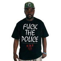 Thug Life N.W.A. F.T.P Tee Black