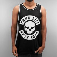 Thug Life Skull Tank Top Black