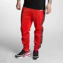 Pánske tepláky Thug Life Two Stripes Sweatpants Red