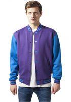 Urban Classics 2-tone College Sweatjacket pur/tur
