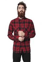 Urban Classics Checked Flanell Shirt 2 red/blk