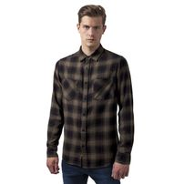 Urban Classics Checked Flanell Shirt 3 blk/olive