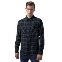 Urban Classics Checked Flanell Shirt 3 forest/nvy/blk
