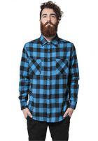 Urban Classics Checked Flanell Shirt blk/tur