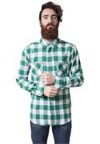 Urban Classics Checked Flanell Shirt wht/grn