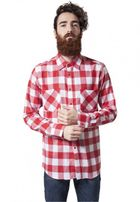 Urban Classics Checked Flanell Shirt wht/red