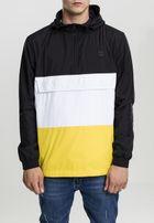 Urban Classics Color Block Pullover blk/chromeyellow/wht