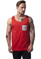 Urban Classics Contrast Pocket Jersey Big Tank red/wht/aztec