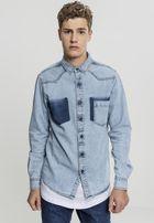 Urban Classics Denim Pocket Shirt freshblue wash