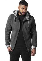 Urban Classics Hooded College Sweatjacket cha/gry