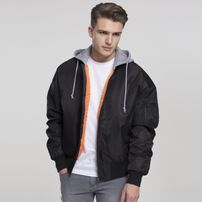 Urban Classics Hooded Oversized Bomber Jacket blk/gry