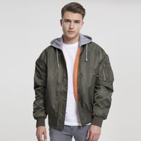 Urban Classics Hooded Oversized Bomber Jacket olv/gry