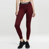Urban Classics Ladies Active Melange Logo Leggings red/black/black