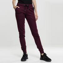 Urban Classics Ladies Athletic Melange Jogpants burgundy/black