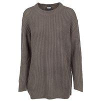Dámsky sveter Urban Classics Ladies Basic Crew Sweater army green