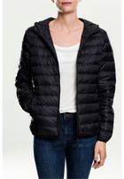 Urban Classics Ladies Basic Hooded Down Jacket black