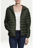 Urban Classics Ladies Basic Hooded Down Jacket darkolive