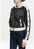 Urban Classics Ladies Button Up Track Jacket blk/wht/blk