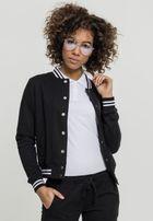 Urban Classics Ladies College Sweat Jacket blk/blk