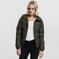 Urban Classics Ladies Hooded Puffer Jacket darkolive
