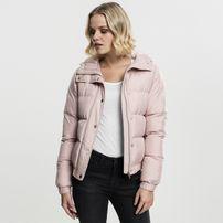 Dámska bunda Urban Classics Ladies Hooded Puffer Jacket lightrose