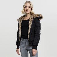 Urban Classics Ladies Imitation Fur Bomber Jacket black