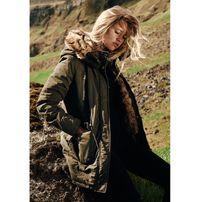 Urban Classics Ladies Imitation Fur Parka darkolive