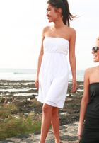 Urban Classics Ladies Laces Dress white