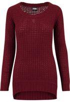 Urban Classics Ladies Long Wideneck Sweater burgundy