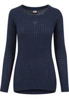 Urban Classics Ladies Long Wideneck Sweater navy