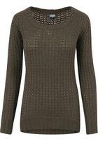 Urban Classics Ladies Long Wideneck Sweater olive