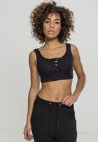 Urban Classics Ladies Rib Short Top black