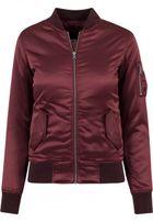 Urban Classics Ladies Satin Bomber Jacket burgundy
