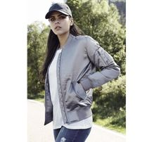 Urban Classics Ladies Satin Bomber Jacket silver