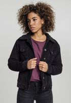 Urban Classics Ladies Sherpa Cordury Jacket black/black