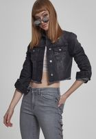Urban Classics Ladies Short Denim Jacket black washed
